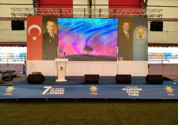 19 Mayıs Ak Parti 7.Olağan Kongre Sahnesi